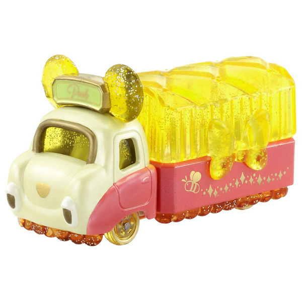 TOMICA 迪士尼幻珠寶小汽車 首飾收納珠寶車 小熊維尼