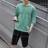 男運動套裝短袖t恤夏季韓版潮流寬鬆學生休閒衣服 FR8227『俏美人大尺碼』