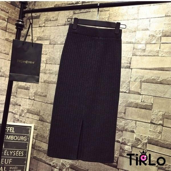 長裙-Tirlo-包芯紗針織中長包裙-四色(現+追加預計5-7工作天出貨)