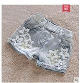 女童短褲2019夏新洋氣童裝兒童牛仔短褲外穿百搭中大童褲女孩熱褲嬡孕哺