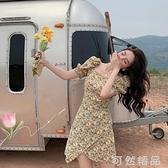 可甜可鹽洋裝女夏年新款氣質花裙夏季短裙夏天裙碎花小裙子 可然精品