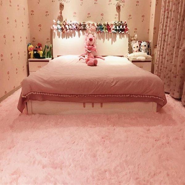 客廳家用絲毛小地毯臥室床邊長方形沙發地墊房間滿鋪大地毯