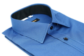 【金‧安德森】藍黑條紋窄版長袖襯衫