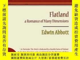 二手書博民逛書店Flatland罕見A Romance Of Many Dimensions - Edwin AbbottY2