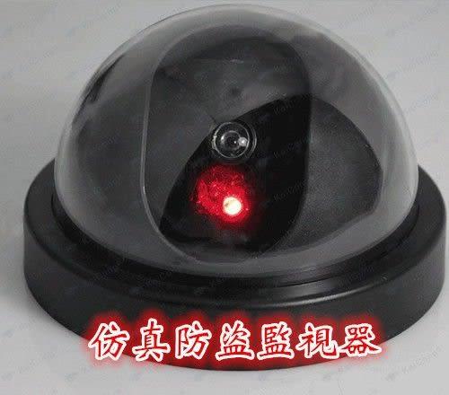 (現貨特價)室內仿真監視器 防盜監視器 攝影機 偽裝假鏡頭 LED燈閃爍 防盜器門鈴迎賓鈴密錄器