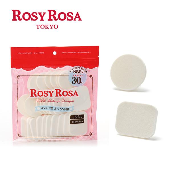 ROSY ROSA 粉餅粉撲圓方型 30入  ◇iKIREI