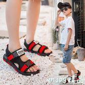 小男生涼鞋 男童夏季沙灘鞋露趾軟底涼鞋