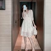 超仙連身裙衣裙女2020夏裝新款韓版收腰仙女森系碎花法式桔梗氣質裙子 居享優品
