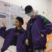 風衣韓國ins潮bf風紫色字母印花薄