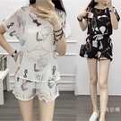 套裝短褲套裝女夏裝2020新品韓版時尚寬松雪紡衫短袖小清新氣質兩件套
