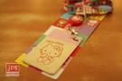 Hello Kitty 凱蒂貓 易拉扣直式證件套 粉米色 957373