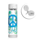 ✪ 限量限定款 ✪ Glasstic安全防護玻璃運動水瓶 設計款 (PEAC 掀蓋白)