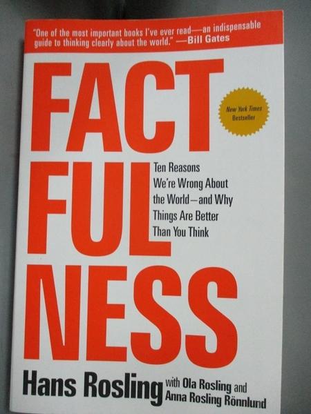 【書寶二手書T1/社會_JQI】Factfulness-Ten Reasons We re Wrong..._Hans Rosling
