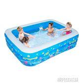 充氣泳池 兒童充氣游泳池嬰兒成人家用海洋球池加厚家庭大號戲水池 潮先生