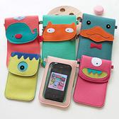 ►全區69折►手機袋 手機保護套 可插卡放零錢卡通斜挎小包 手機包 小號 【D1029】