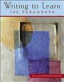 二手書博民逛書店 《Writing to Learn: The Paragraph》 R2Y ISBN:0071188290│McGraw-Hill Europe