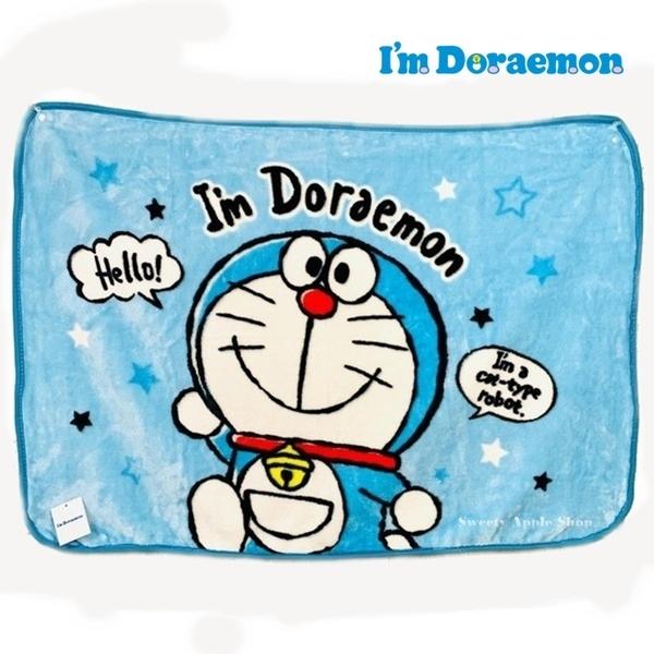 【SAS】日本限定 哆啦a夢 Im Doraemon HELLO!版 保暖毛毯 / 蓋毯 / 披肩毛毯 70×100cm