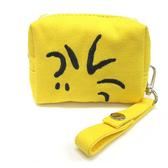 SNOOPY可愛大臉帆布方形迷你收納包(糊塗塌克黃)★funbox生活用品★Marimo_FT21150