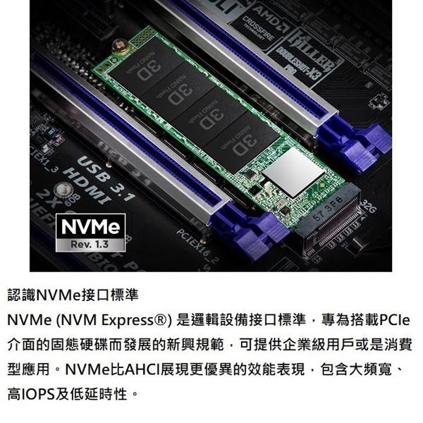 TRANSCEND 創見 TS128GMTE110S SSD 固態硬碟 PCIe M.2 SSD 110S 128GB