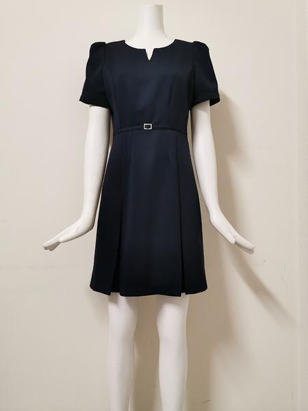 【傑門凱立GK-701D】丈青藍-OL職業女洋裝/女套裝/連身裙/夏季女洋裝/上班族辦公室櫃台時尚氣質