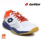 【LOTTO】男款排球鞋 白色 (L6909)全方位跑步概念館