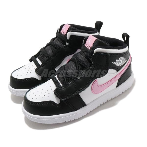 Nike 休閒鞋 Jordan 1 Mid ALT TD 黑 粉紅 童鞋 小童鞋 AJ1 運動鞋 【ACS】 AT4613-103