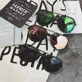 夏季新款情侶防曬太陽鏡男女潮流韓版圓形反光遮陽眼鏡炫彩墨鏡       智能生活館