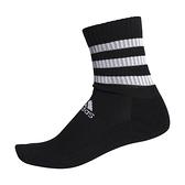 Adidas 3S CSH CRW1P [FH6629] 中筒襪 透氣 舒適 彈性 男女 黑白