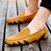 豆豆鞋男男士皮鞋正韓百搭男鞋潮駕車軟底休閑鞋懶人鞋子 炫科技