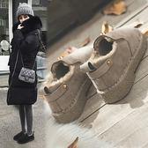 豆豆鞋女冬季女鞋加絨2019新款平底潮保暖懶人鞋丑鞋一腳蹬棉鞋子
