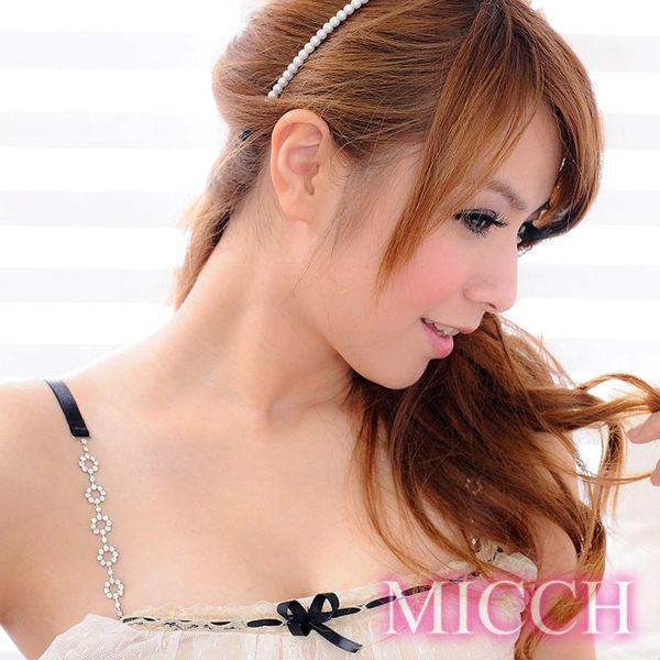 MICCH 鑽圈圈閃耀捷克鑽石肩帶(百搭黑織帶)