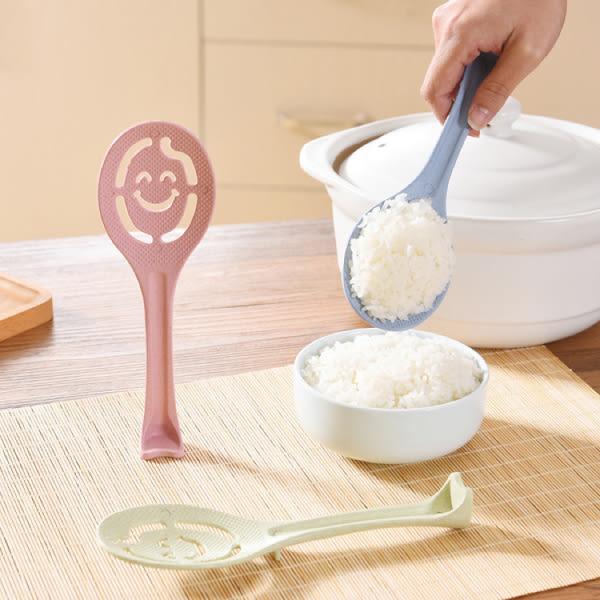廚房用品 可立式小麥纖維笑臉飯勺 蛋黃蛋清分離器  【KFS142】123ok