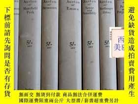 二手書博民逛書店1930罕見出版《簡·奧斯汀作品集》7卷全Y229293 Jan