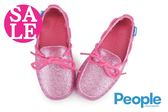People 女童防水休閒鞋 The Senna 繫繩結 晶光閃粉 輕量洞洞鞋 水陸鞋J9476#粉紅◆OSOME奧森童鞋