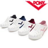 PONY 白 黑 粉 紅 藍 反光LOGO 後跟軟布 可踩 男女 多色 (布魯克林) 92U1SA02-