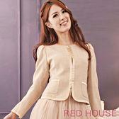 【RED HOUSE-蕾赫斯】千鳥格西裝外套(金色)