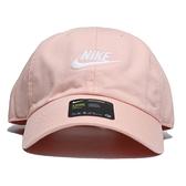 NIKE 運動帽 老帽 FUTURA WASHED CAP 粉橘 刺繡LOGO 調整式 (布魯克林) 913011-800