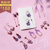 PUFII-耳環 質感紫外光色系多款造型耳環 8色-0920 現+預 秋【CP15193】