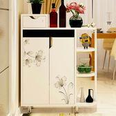 鞋櫃創意簡易隔斷雙面鞋櫃時尚歐式進門大鞋櫃對開門玄關櫃JD 智慧e家