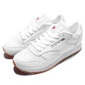 Reebok 休閒鞋 CL LTHR 白 全白 女鞋 小白鞋 膠底 復古慢跑鞋 皮革 運動鞋【ACS】 49803