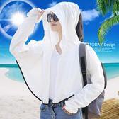 防曬披肩防曬披肩女夏防紫外線百搭開車口罩沙灘騎車旅游海邊親子款防曬衣