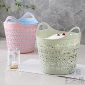 2個裝 大號塑料臟衣籃衣簍浴室洗衣籃家用玩具衣物收納籃【極簡生活】