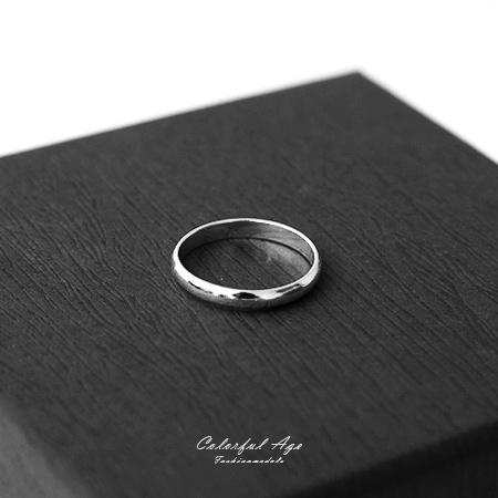 925純銀戒指 簡約素面基本款尾戒 抗過敏材質 生日禮物 柒彩年代【NPC1】