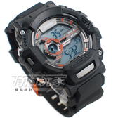SKMEI 時刻美 清楚大視窗 計時運動電子手錶 中性錶 男錶 學生錶 橡膠 黑x橘 SK1233橘黑