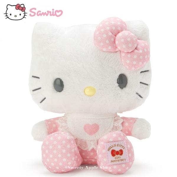 日本限定 三麗鷗 HELLO KITTY 凱蒂貓 45th紀念版 (baby kitty系列) 玩偶娃娃