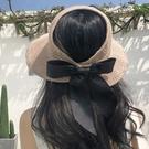 草帽子女夏天韓版防曬空頂遮陽帽沙灘出遊漁夫防紫外線遮臉太陽帽 店慶降價