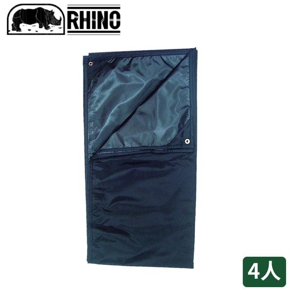 【RHINO 犀牛 927犀牛4人防潮地布/蓋布《黑》】927/帳篷外墊/防水地墊/遮陽布/野餐墊