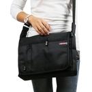 大容量牛津布側背包男包斜背包商務黑色多功能男士包包快遞背包