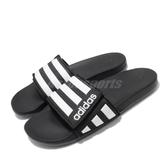 adidas 拖鞋 Adilette Comfort ADJ 黑 白 男鞋 女鞋 涼拖鞋 運動拖鞋 【PUMP306】 EG1344