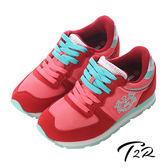 【韓國T2R】輕量撞色休閒內增高鞋 7cm↑ 紅(5600-0161)